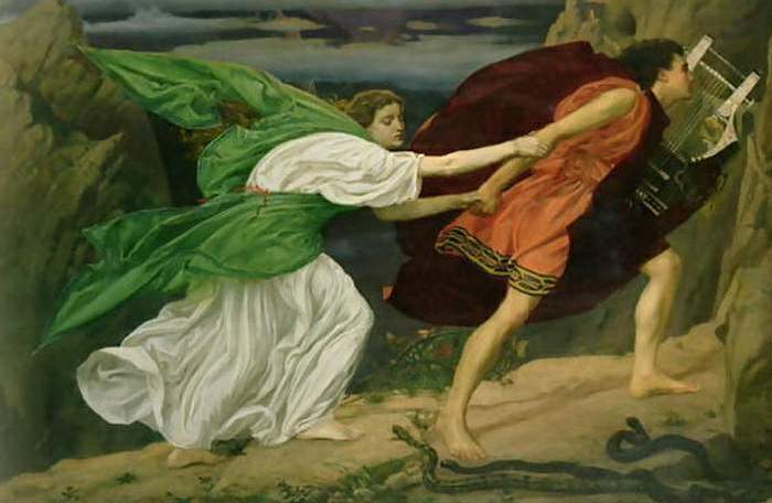 Анима в образе Эвридики, спасаемой из подземного царства Орфеем.