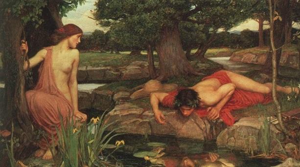 Символически встречу с Тенью обозначают взглядом на собственное отражение.
