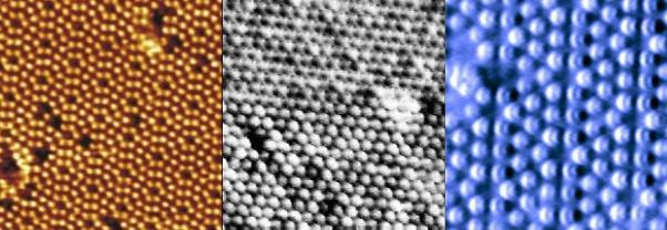 Фотографии атомов в электронный микроскоп.