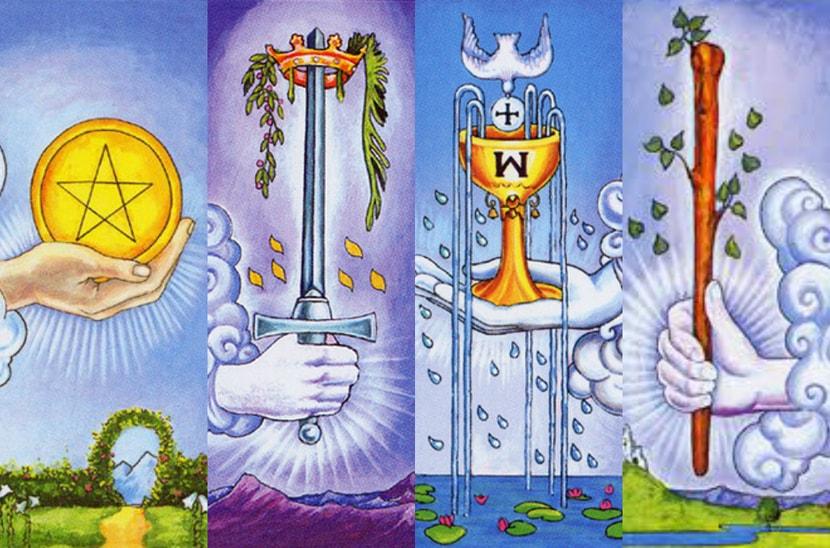 Символы стихий: огонь, земля, воздух, вода