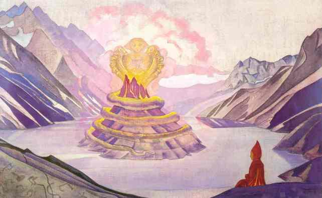 Нагарджуна - Победитель Змия. Рерих