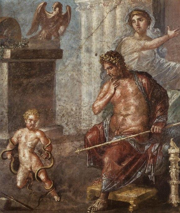 Юный Геракл, душащий змей